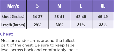 Mens T-Shirt Size Guide