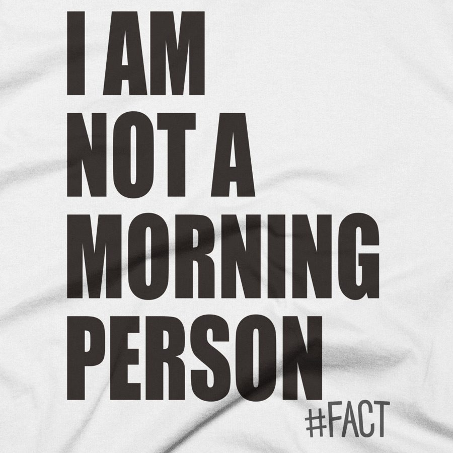 Not A Morning Person #FACT T-Shirt