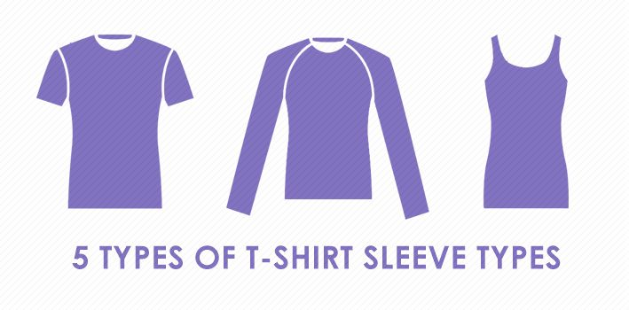5 Types of T-Shirt Sleeve Types