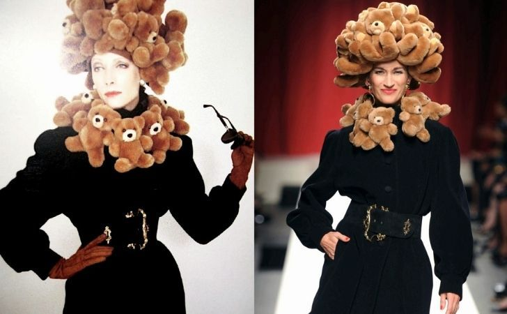 The 1988 Moschino bear debut dress and hat